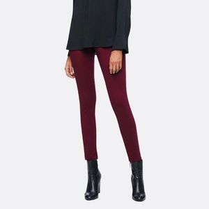 Calvin Klein Jeans Solid Burgundy Stretch Pants